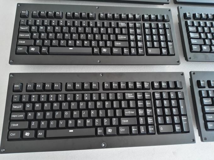 Panel Mount Backlight Keyboard Mekanik Cherry Dengan Trackball Logam Mouse 0