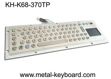Water Proof Industrial Computer Keyboard / Metal SS Panel Mount Keyboard dengan Touchpad