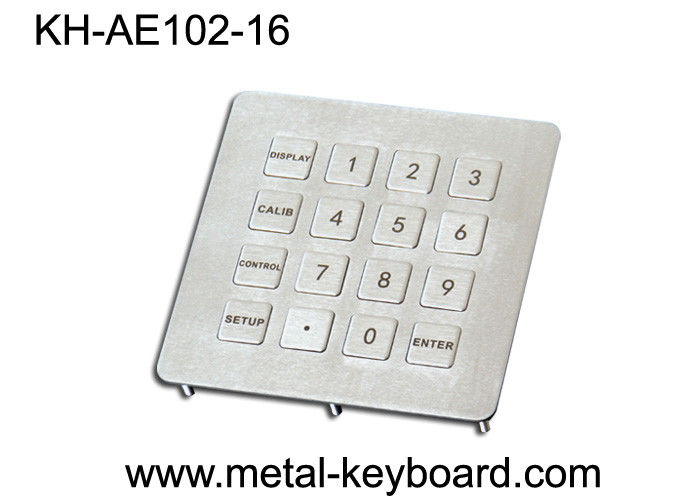 Anti - Vandal Stainless Steel 16 Keys Number Keypads for Info - Kiosk