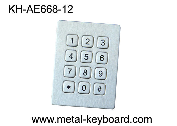 IP65 Industrial Metal Numeric Keypad , Anti - vandal num keypad with long life