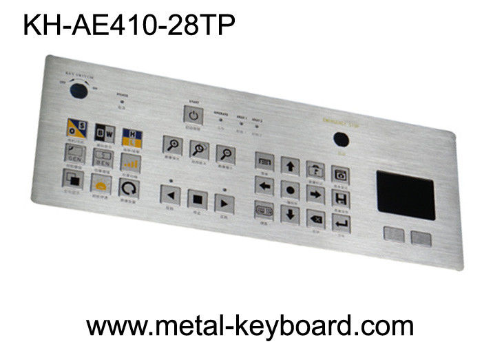 Touchpad 28 Keys Industrial Metal Keyboard , flat matrix / squre buttons