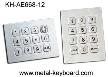 12 Keys Sealed Numeric Keypad , Water Proof Rugged Keypad In 3x4 Matrix