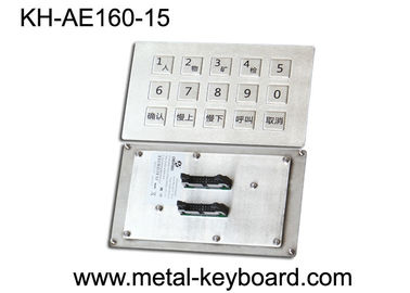 Cina Panel Mount Industrial Metal Keyboard Stainless steel for Mine Machine pabrik