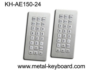 Pemasangan panel atas 24 Tombol Stainless Steel Keyboard Waterproof Industri