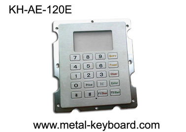 Cina Stainless Steel Gas Station Rugged Keypad with 20 Keys , Panel Mount Keypad pabrik
