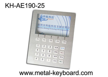Custom Layout Keyboard Stainless Steel, Digital Kiosk Keypad dengan 25 Tombol