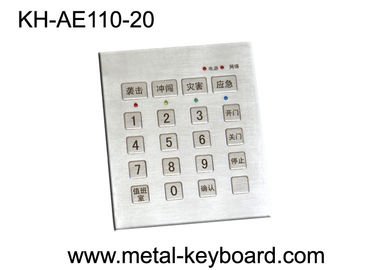 Cina Vandal Proof Stainless steel Keyboard dengan 20 Keys, Door Entry Keypad pabrik