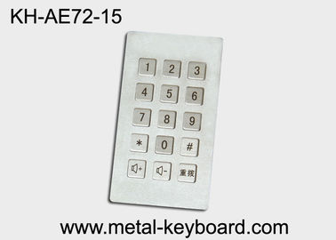 Cina Industrial Input Stainless Steel keyboard metal  , dustproof keyboard long life pabrik