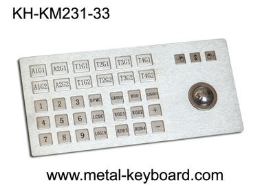 Cina Ruggedized Metal Panel Mount Industrial Keyboard with Trackball pabrik