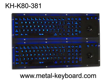 Cina Illuminant waterproof SS Industrial Metal Keyboard with Trackball  pointing device pabrik