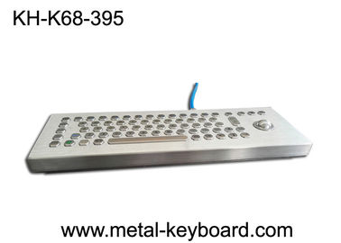 Standalone Stainless Steel Ruggedized Keyboard, Keyboard Desktop Industri dengan Trackball