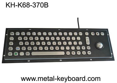Baja Hitam Industri Baja Stainless Keyboard dengan Trackball Pointing Device