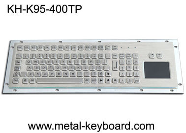 Air Bukti Stainless Steel 95 Kunci Layout Keyboard Logam Industri Disesuaikan