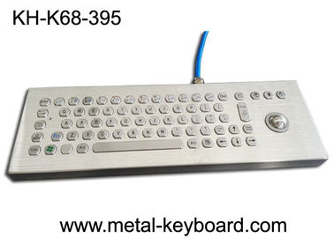 Keyboard Komputer Industri Desktop Air Bukti Stainless Steel Dengan Laser Trackball