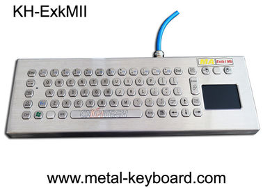 Cina Explosion Proof Stainless Steel Keypad, Industrial Pc Keyboard Dengan Touchpad pabrik