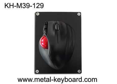 Cina Resin Trackball Dengan Black Metal Mounted Panel, Industrial Computer Mouse pabrik