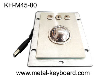 Cina Panel Mounted Stainless Steel Kios Trackball Diameter 45mm Bola Optical Encoders pabrik