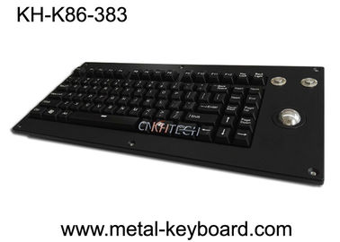 Panel Mount Backlight Keyboard Mekanik Cherry Dengan Trackball Logam Mouse