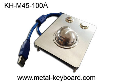 Cina Waterproof Panel Mounted Industri Trackball Mouse W / 38mm Bola Stainless Steel pabrik