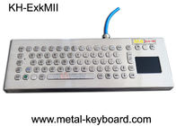 Explosion Proof Stainless Steel Keypad, Industrial Pc Keyboard Dengan Touchpad